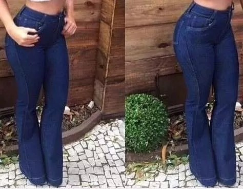4bea99148 Calça Jeans Feminina Flare Elastano Cintura Alta Hot Pants - R$ 139 ...