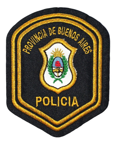 Escudo Bordado Policía Provincia Buenos Aires Parche Dorado