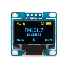 Modulo Display Oled 0.96 I2c Azul Amarelo Lcd Arduino Pic