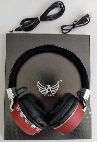 Fone De Ouvido Super Bass Vermelho Bluetooth - Altomex