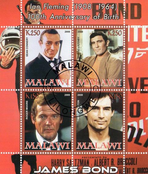 1 Bloque De Malawi - James Bond - 2008