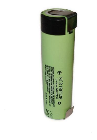 Bateria Ncr18650b Panasonic 3400mah Com Terminal De Solda
