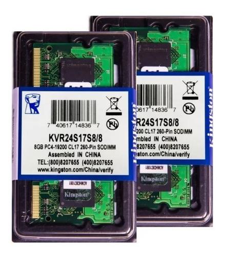 Imagem 1 de 7 de Memória Kingston Ddr4 8gb 2400 Mhz Notebook 8 Chips 1.2v