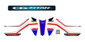 Adesivo Faixas Emblema Cg Titan 160 2019 Personalizado