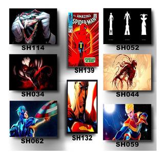 Kit 8 Placas Decorativas Mdf 20x30 Super Heróis Marvel Dc Hq