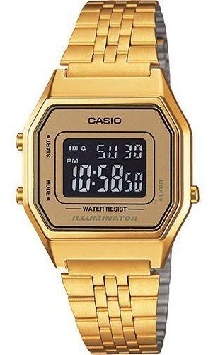Relógio Casio Vintage Unisex La680wga-9bdf Dourado