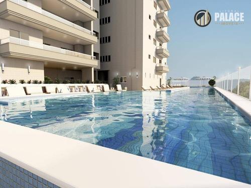 Apartamento Com 3 Dormitórios À Venda, 112 M² Por R$ 760.040,00 - Canto Do Forte - Praia Grande/sp - Ap2584