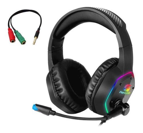 Headset Gamer Rgb Blackfire C/ Adaptador Pc Xbox Ps4 Fortrek
