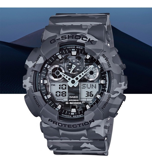 Relógio Casio G-shock Analóg Digital Ga-100cm-8adr Camuflado