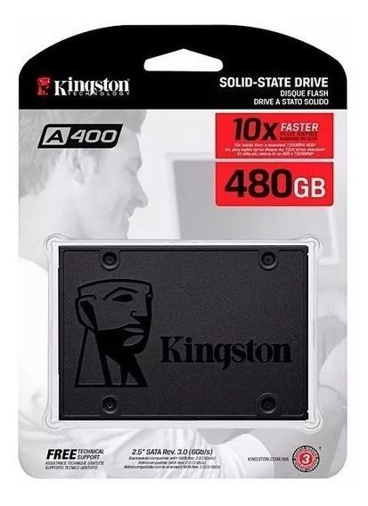 Ssd Kingston A400 480gb (cabo Sata3 De Brinde) Nf + Garantia