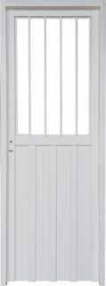 Puerta Exterior Chapa Simple Medio 1/2 Vidrio 70 X 205 Cms