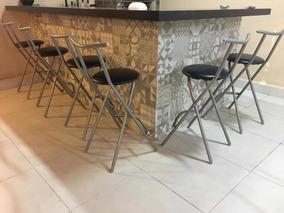 Banqueta Alta De Alumínio