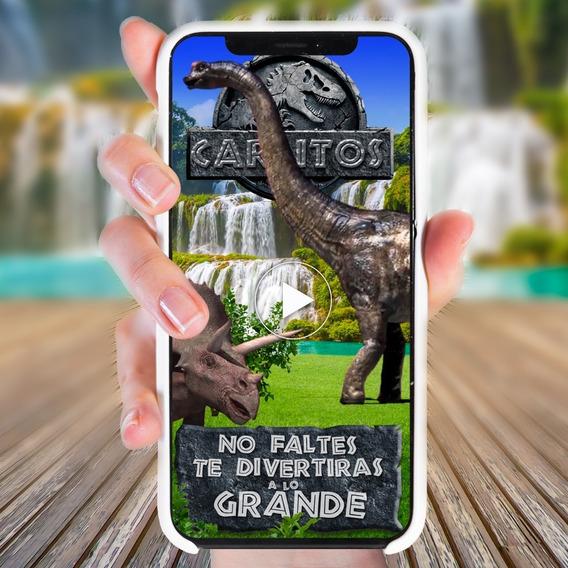 Invitación En Video Jurassic World Digital Video-invitación