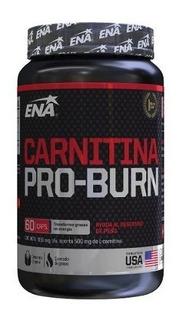 Carnitina Pro Burn 500 Mg X 60 Caps Ena Quemador De Grasa