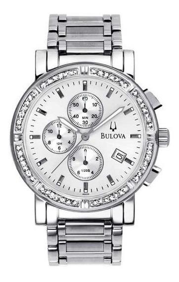 Relógio Bulova Feminino Com Diamantes Cronógrafo Wb21418q