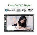 7 2 Din Car Stereo Dvd Cd Mp3 Player Bt Fm Radio Aux In Tv
