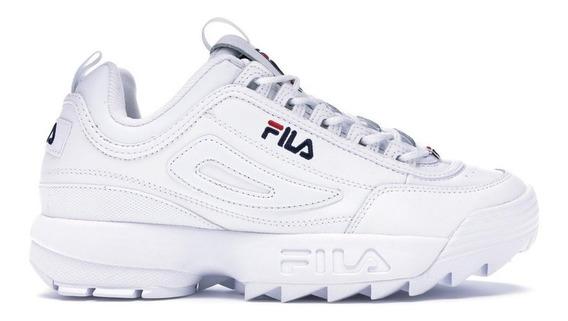 Zapatillas Fila Disruptor Ii Premium Blanca De Mujer
