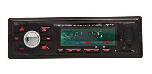 Som automotivo Knup KP-C15BH com USB, bluetooth e leitor de cartão SD