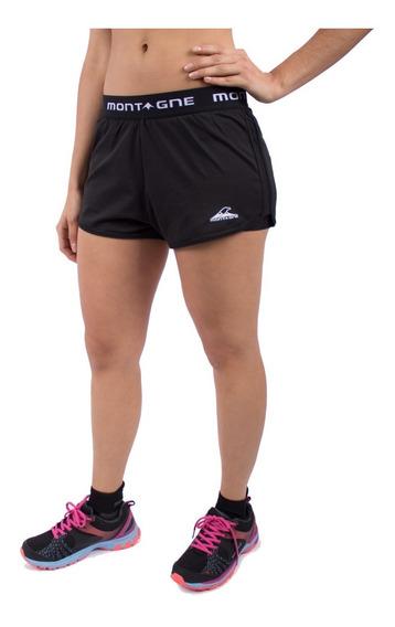 Short Montagne Sally Mujer Calza Incorporada Secado Rápido Deportiva