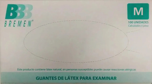 Guantes De Látex P/ Examinacion X 100 Unidades Bremen