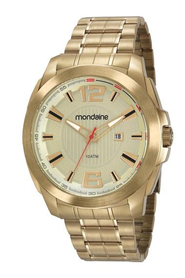 Relógio Masculino Mondaine 83425gpmvds1 50mm Aço Dourado