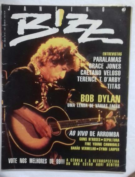 Revista Bizz Nº 54 - Janeiro 1990 - Bob Dylan - Conservada