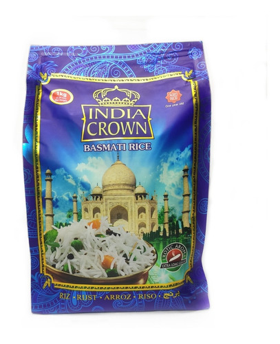 Imagen 1 de 3 de Arroz Basmati India Crown X 1 Kg