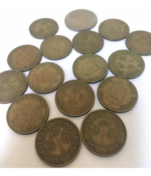 Monedas De Hong Kong Año 1949/50 10 Y 50 Cents Lote 16 Moned