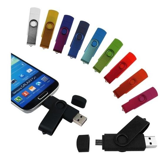 Pen Drive 64gb Duas Entradas Otg Para Celular Usb 2.0
