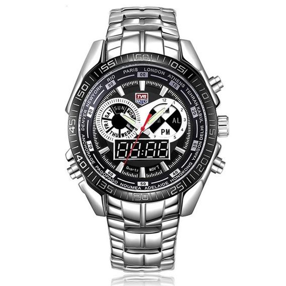 Relógio Pulso Militar Analógico- Digital Militar Exibição Le