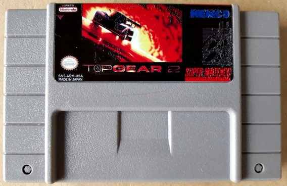 Cartucho Top Gear 2 Jogo Snes Super Nintendo Corrida Fita
