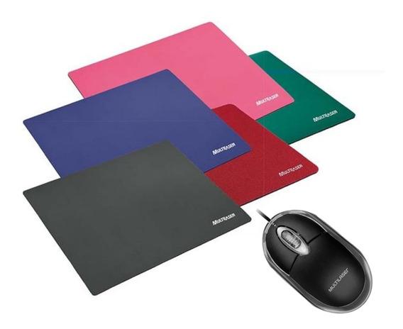 Kit Mouse + Mouse Pad Mulitlaser 3 Anos De Garantia + Nfe
