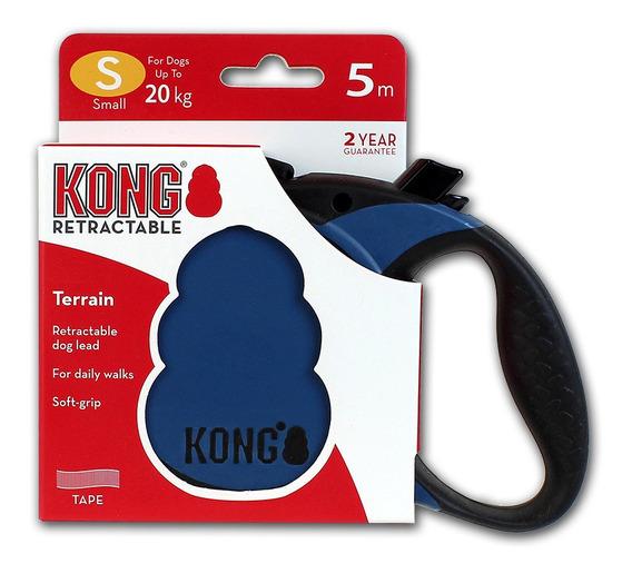 Guia Retrátil Kong Terrain Pequena Cães Até 20 Kg Azul 5 M