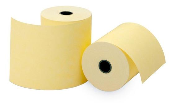 Bobina Térmica Amarela Cupom Fiscal 80mmx30m | 30 Unid