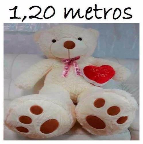 Imagem 1 de 10 de Urso Gigante 1,20 Metros Para Namorada + Coração Romântico
