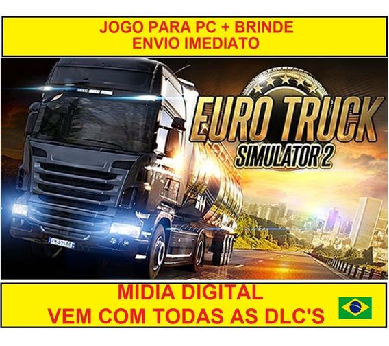 Euro Truck Simulator 2 + Mapa Brasileiro + Brinde