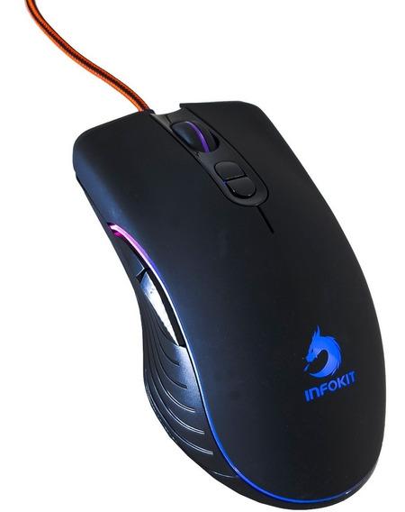Mouse Gamer Laser Usb Pc Óptico Iluminado 6400 Dpi 7 Botões