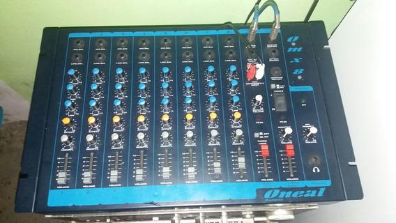 Mesa 8 Canais Duas Caixas De Som 350watts Amplificador Equal