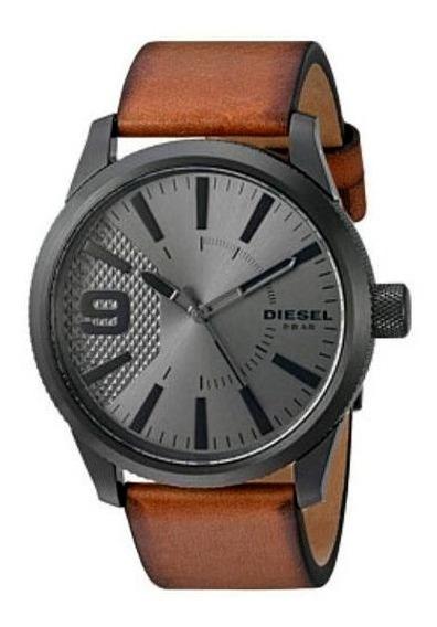 Relógio Diesel Masculino Original Puls De Couro Dz1764/0mi