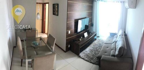 Excelente Apartamento 2 Quartos Em Jardim Camburi Com Localização Privilegiada - Ap0493
