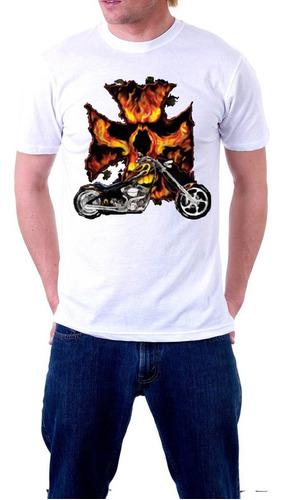Imagen 1 de 1 de Full Weight Arts 100%cotton Manga Corta Motor Fire