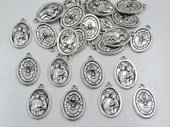 Pingente Medalha Sagrada Família Divino Espírito Santo 24un