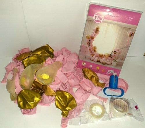 Pack De Globos Para Arco, Rosado Pastel. Varios Colores
