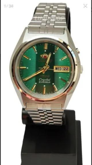 Relógio Oriente Automatico Verde Cristal