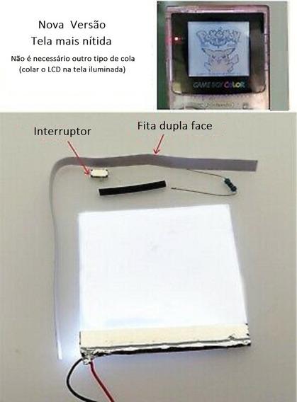 Front Light Frontlit Luz Para Game Boy Color Ou Advance Mod