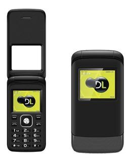 Celular Dl Yc230 Flip Preto Tela 1.77 Dual Chip Lacrado