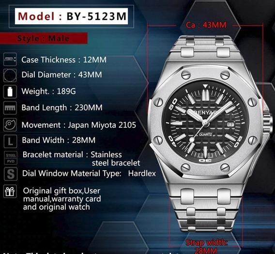 Relógio - Benyar - 43mm - Modelo: 5123