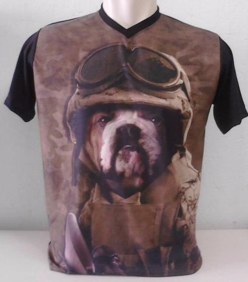 Camiseta, Regata, Baby Look - Animal, Cachorro, 3d -exército