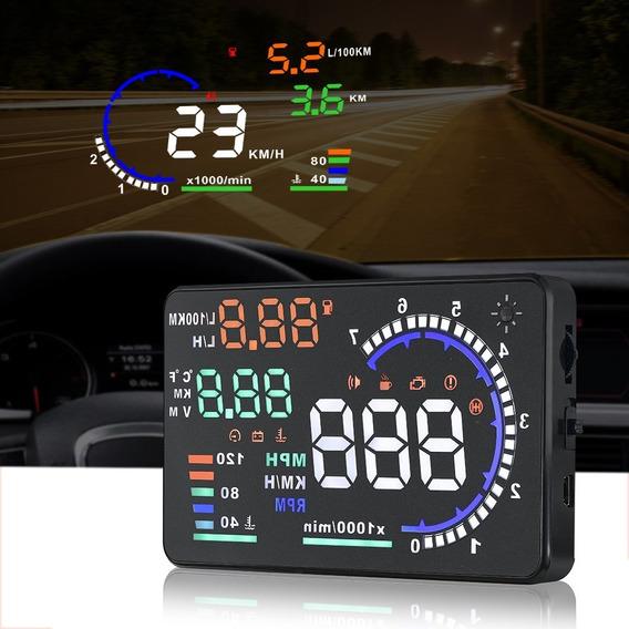 Hud Head Up Display Obd2 Velocímetro Digital Universal Carro