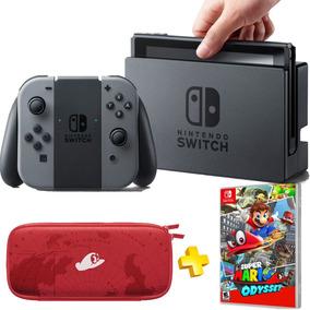 Nintendo Switch Gray Super Mario Odyssey , Joycons E Case